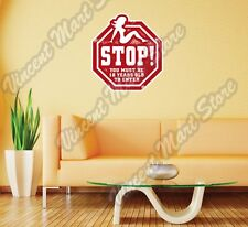 "Sex Girl Adult Stop Sign Grunge Stamp Wall Sticker Room Interior Decor 22""X22"""