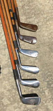 6 Antique Hickory Wood Shaft Tom Stewart Clubs Player's