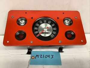 REFURBISHED 1961-1967 FORD ECONOLINE VAN / PICKUP TRUCK GAUGE CLUSTER - RED