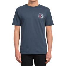 Volcom Find heather Camiseta Para Hombre En Indigo Azul - Con Rücken-print