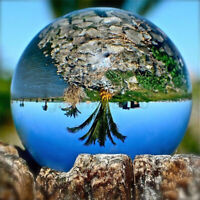 50-150mm Clear Crystal Photography Lens Ball Photo Background Prop Home Decor