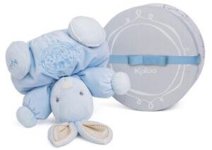 "Kaloo Perle BLUE Chubby Rabbit 10""/25cm soft plush baby safe boxed gift NEW"