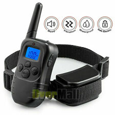 Dog Pet Electric Shock Training Collar Receiver Remote Control Waterproof IP67