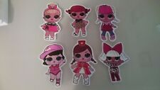 6 lol dolls VINYL WALL STICKER WALL DECALS