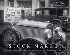 Stock Market Motivational Poster Art Print Wall Street Warren Buffett MVP573