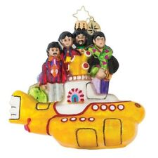 "Radko All Together Now 5"" Beatles With Yellow Submarine Ornament 1019344"