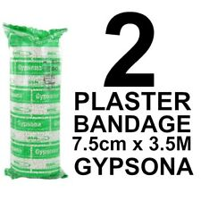 Plaster Cast (x 2) Medical Bandage 7.5cm x 3.5m Gypsona