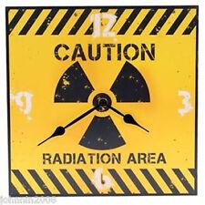 UHR WANDUHR BILDERUHR Caution Radiation Area GRÖßE: 29 x 29 CM