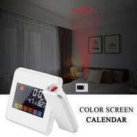 LCD Color Screen Snooze Alarm Digital Projection Clock display weather calendar