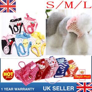 Reuseable Female Pet Dog Soft Pants Pad Bitch Menstrual Sanitary Nappy Diaper UK