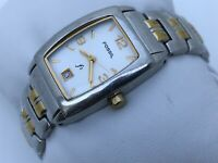 Fossil F2 Ladies Watch Silver Gold Tone Analog Date Calendar Water Resistant 3AT