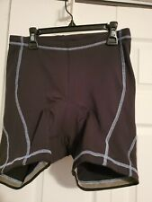 Quest Womens Size Large Black Padded Cycling Bicycle Shorts Excellent Condition