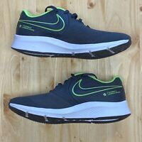 Nike Star Runner 2.0 Running Shoes Black/Lime Green AQ3542-004 Size 5.5Y