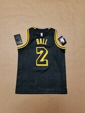Nike Lonzo Ball Los Angeles Lakers Swingman Authentic Youth Jersey size Small