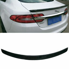 Fit For Jaguar XF 2009 - 2015 Carbon Fiber Rear Trunk Wing Spoiler Gloss Black