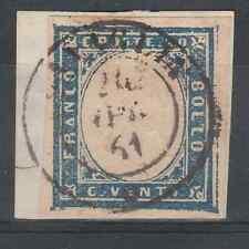 FRANCOBOLLI 1861 SARDEGNA 20 C. CON ALETTO A DX C/4524