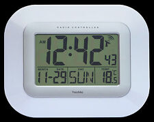 Radio Controlled Large Screen LCD Wall Or Desk Clock ( UK & Ireland Version )