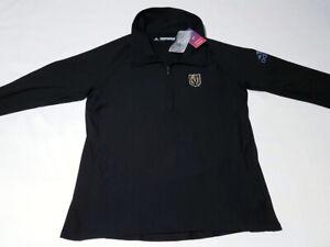 $75 Adidas Women's XL NHL Vegas Golden Knights Long Sleeve 1/4 Zip Pullover