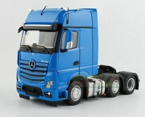 1/32 Marge Models Mercedes Benz Actros 6x2 Heavy Duty Truck Tractor Blue Diecast