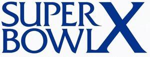 Pittsburgh Steelers Super Bowl X Logo Decal