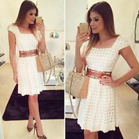 Fashion Sexy Women Summer Casual Short Sleeve Evening Party Cocktail Mini Dress