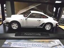 Porsche 911 930 turbo 3.3 LTR. 1987 - 1989 blanco white 1/1000 rar norev 1:18