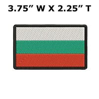 BULGARIA FLAG embroidered iron-on PATCH BULGARIAN NATIONAL EMBLEM applique New