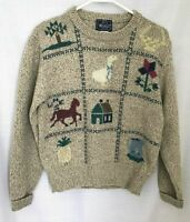 WOOLRICH Sweater Size S Wool Blend Horse Country Vintage  EUC