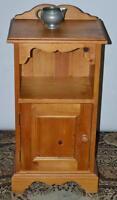 Vintage Pine Bedside Cabinet - FREE Shipping [PL3495]