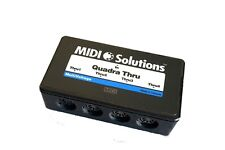 MIDI Solutions Quadra Thru is a 1-in 4-out MIDI Thru Box. free fast shipping