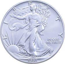 Better Date 1991 American Silver Eagle 1 Troy Oz .999 Fine Silver *908
