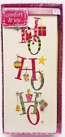 Christmas Holiday Cards Santa Ho Ho Ho 3D Accent 10ct New