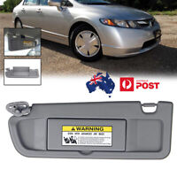 Grey Plastic Car Sun Visor Shield For 2006-2011 For Honda Civic Left Driving
