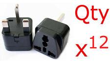12pk USA US EU Europe To UK British Travel Charger Adapter Plug Outlet Converter