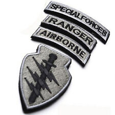 4-IN-1 set USA Flag U.S Airborne Special Forces RANGER MORALE BADGE PATCH