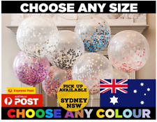 CLEAR CONFETTI BALLOONS Any Size / Colour