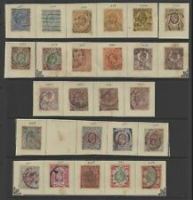 GB stamp 1902-1910 King Edward VII 2.5d to 1s a group of 25 used stamps with SG