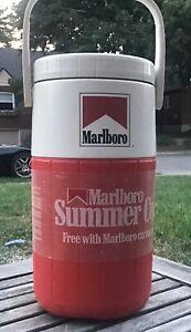 Vintage Marlboro Coleman 64oz Water Jug Thermal 5590 Insulated Cooler .5 gallon