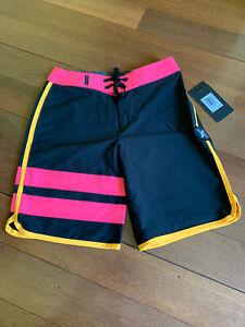 Hurley Phantom Block Party Boardshorts Hyper Pink Boys Sz 22 NWT $50 Stretchy