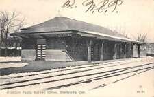Sherbrooke Quebec Canada Canadaian Pacific Railway Station Postcard J69781