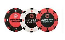 * nouveau * Odyssey / Callaway Golf Jeton de Poker marqueurs de balle (Pack de 3)