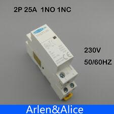 TOCT1 2P 25A 1NC 1NO 220V/230V 50/60HZ Din rail Household ac contactor