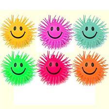 "6 Smiley Stretchy Spiky 4"" Ball Sensory Toys - Fiddle Fidget Stress Autism ADHD"
