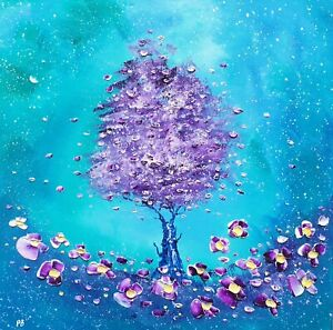 """""""Tree of Life & Flowers in Love"""", a large oil painting on canvas, by Phil Broad"""