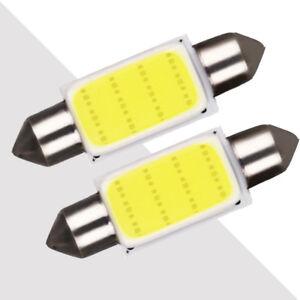 2Pcs COB White Festoon Interior Dome LED Reading Light SUV Car Xenon Lamp Bulbs