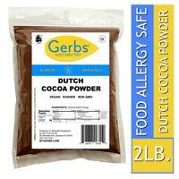 Dutch Cocoa Powder, 2 LBS – Food Allergy Safe - Non GMO Vegan & Kosher by Gerbs