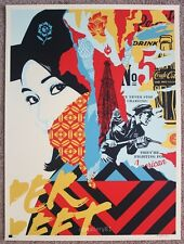 Obey Drink Crude Oil print by Shepard Fairey signed and numbered