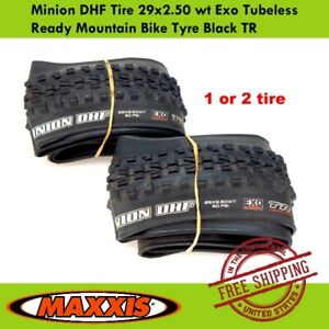 Maxxis Minion DHF Tire 29x2.50 wt Exo Tubeless Ready Mountain Bike Tyre Black TR