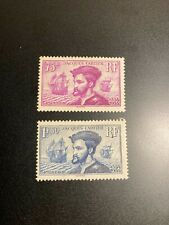 Timbre France, N°296 / 297, paire Jacques Cartier, Neuf, cote: 91€