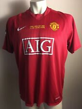 Manchester United 2007 2008 Moscow UCL Final Jersey Shirt NIKE SOCCER FOOTBALL